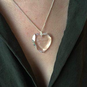 pendentif coeur gravé avec texte