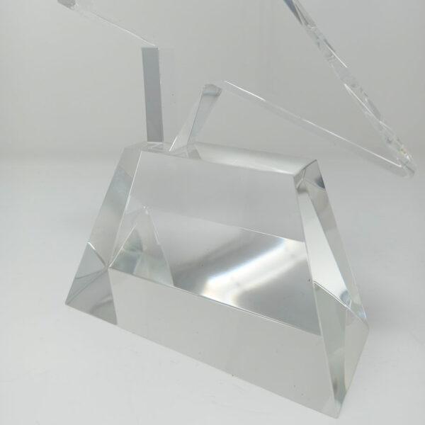 socle de trophée en verre