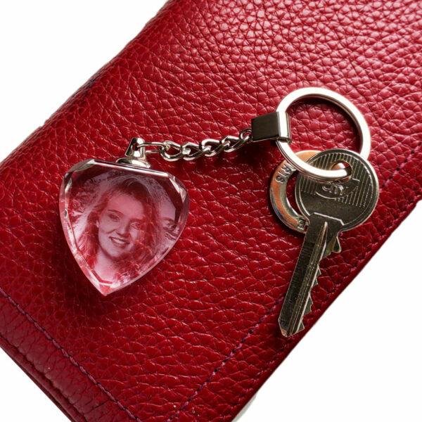 porte clés coeur gravé avec photo